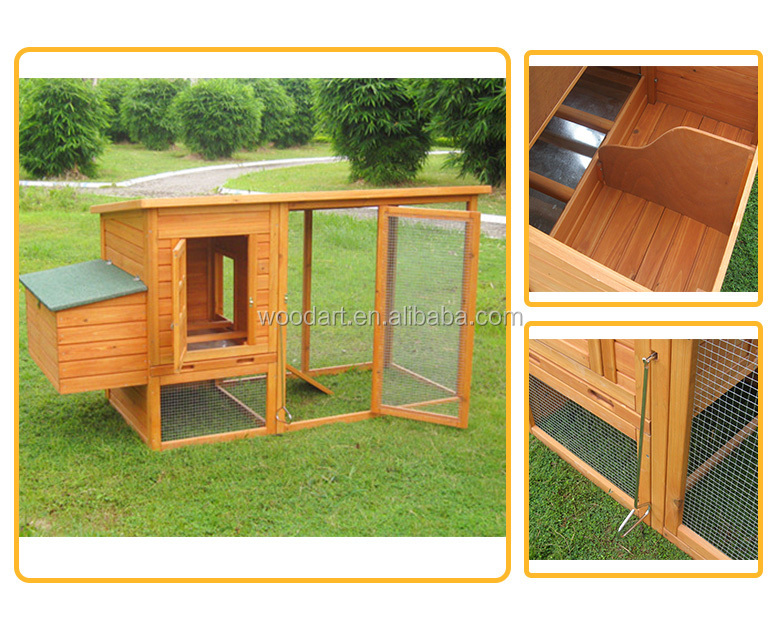 House run industrial chicken coop wooden chicken cage