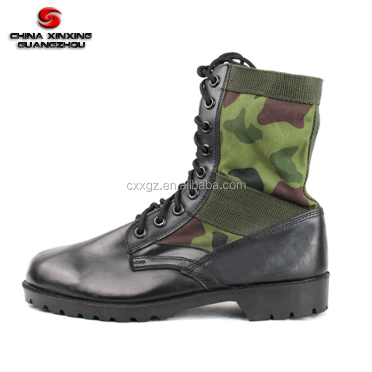 Military Army Tactical Combat leather camouflage desert jungle boots certified