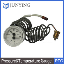 Remote Reading Pressure & Temperature Gauge with Capillary