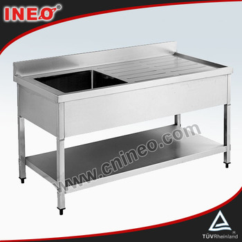 Commercial Stainless Steel Water Sink/Stainless Steel Sink Table/Free Standing Stainless Steel Sink