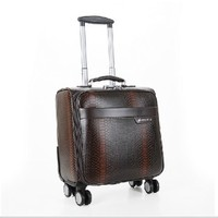 Fashion hot 360 degree spinner wheels Trolley luggage Pu brief case Factory