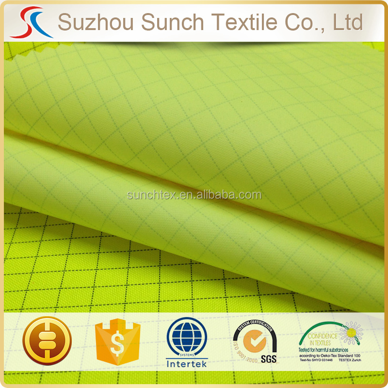 200d poly oxford with conductive fiber coating fabric