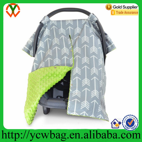Fashion design Muslin baby car seat cover cotton covers