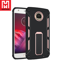 HWcase Factory leading product Protective Smartphone Cover Ultra Stand Case for Moto Z2 Play
