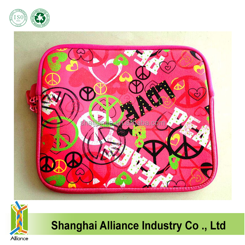 Girl's Fashion Neoprene Laptop Sleeve,Neoprene Tablet Cover.Neoprene Notebook Case