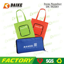 Hot Eco Foldable Non Woven Shopping Bag With Zip Pocket DK-WZ261