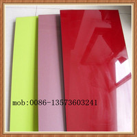 one side faced melamine another side high glossy board