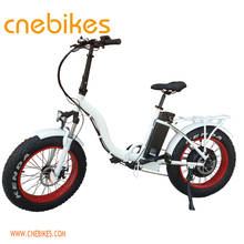 big tyre smart folding 36v rear hub motor electric bikes with lcd display