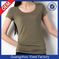 Custom 100% cotton premium plain womens white blank tee shirts wholesale