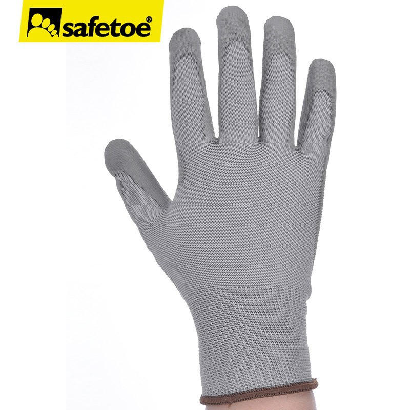 ESD pu coated nylon glove P8003A