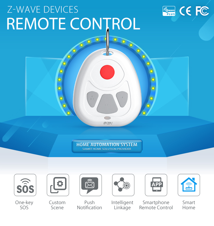 neocoolcam 868mhz/908mhz mobile phone remote control wireless zwave sos panic button