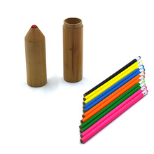 Thin Black Pencil With Colored Eraser accept OEM,Pencil original factory