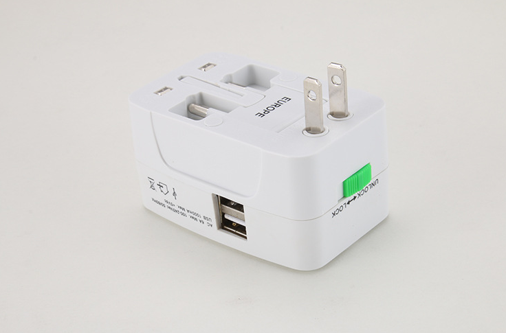 OEM Universal Travel Adapter Dual USB multifunctional usb conversion socket travel adapter