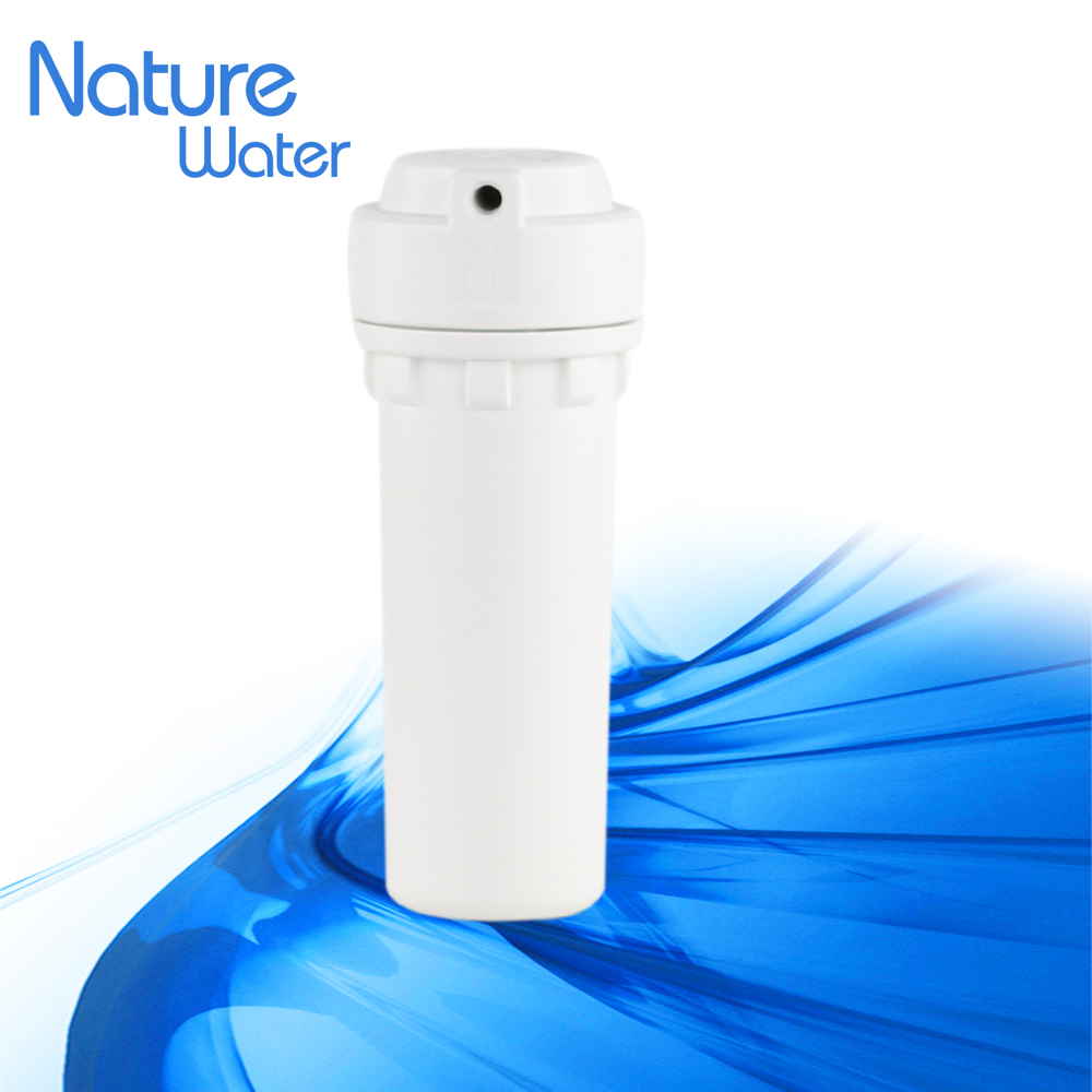 New design standard double O ring plastic domestic water filter housing