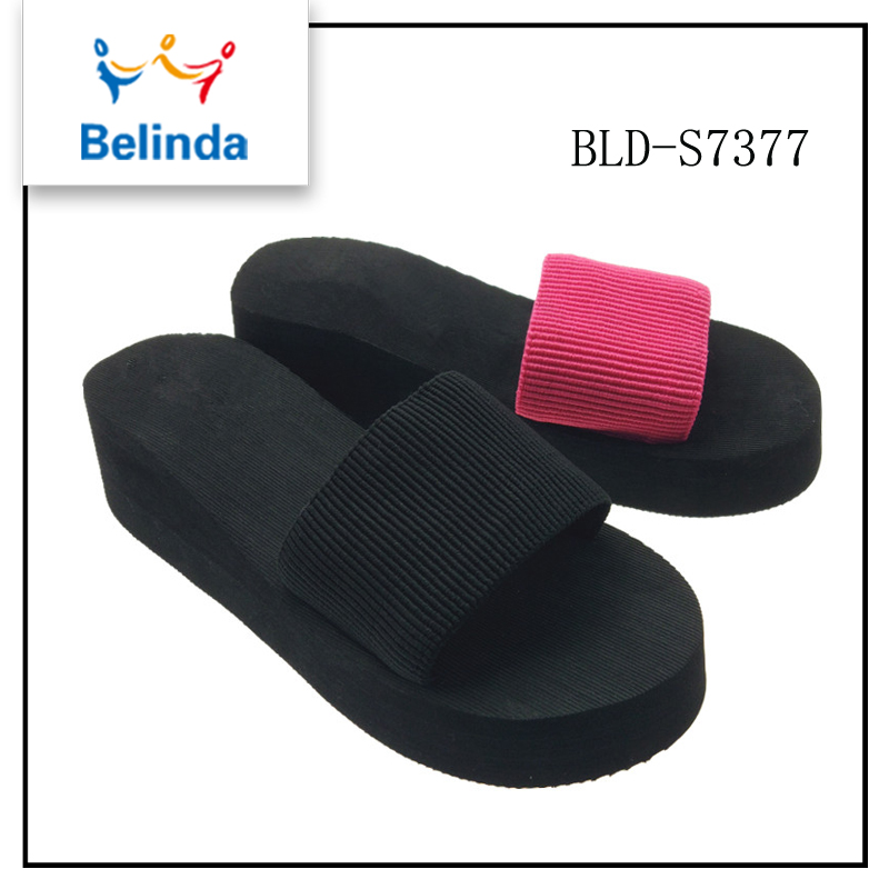 2017 Top quality outdoor girls double color eva slipper for sale
