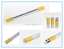 Microblading pen manul type/ aluminum handpiece holder permanent makeup pen for eyebrow tattoo