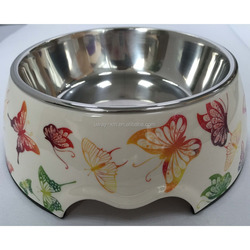 OEM print large size melamine cat water bowl