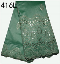 Latest Design Green George Lace Fabric, Wholesale Nigerian George For Dress Making XZ41635L-2