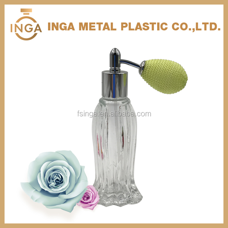 13mm 15mm 18mm Electroplating Aluminum Bulb Shape Screw Perfume Pump Sprayer With Fine Mist