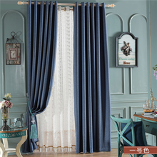 line cotton colored curtains for home used