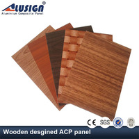 Alusign wood facade acm panel with oem protective film