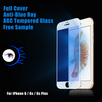 Factory supply Anti uv Blue Light cell phone tempered glass protective flim for iphone 6 / 6s / 6s plus screen protector