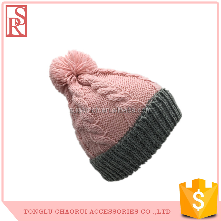 Gift daily life keep warm funny winter ski hat with pom