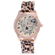 Leopard Cheap Changeable Quartz Women Customized Silicon Watch