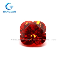 Hot sale Fore Flower Garnet CZ gemstone Synthetic Zirconia CZ stone