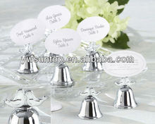 Love Birds Kissing Bells Place Card Holders wedding table decoration