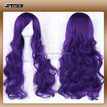 New Product Female Long Wavy Wig Heat Resistant Cheap Cosplay Wigs