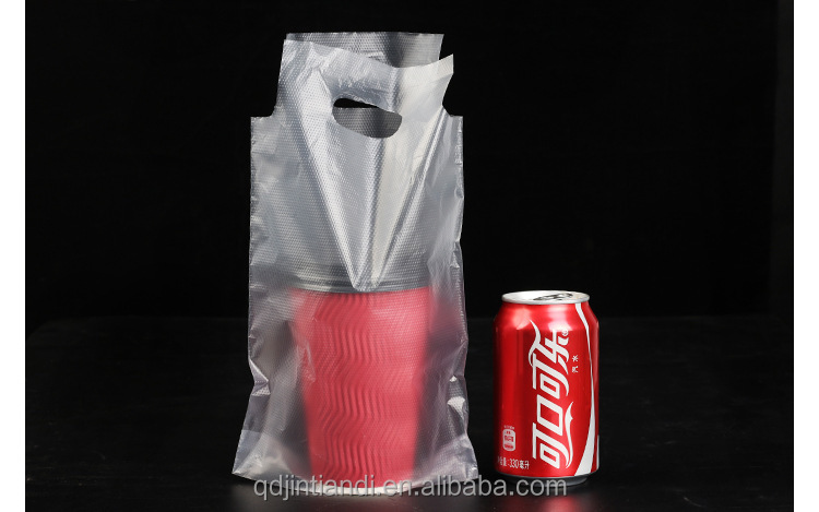 Cola Packing Customized Plastic HDPE Carry Out Bag For Drink