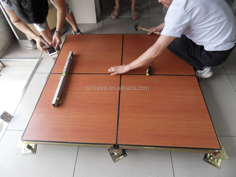 Anti Static Floor Finish : Anti static raised access floor with hpl finish steel