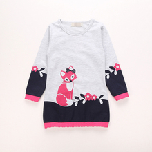OEM Service Animal Cartoon Children Long Sleeve T-shirts Dress