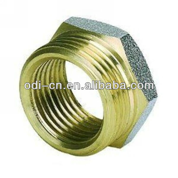 ISO OEM hex head threaded brass male female bush,bushing with male and female