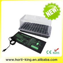 Stackable greenhouse flat plastic seedling trays