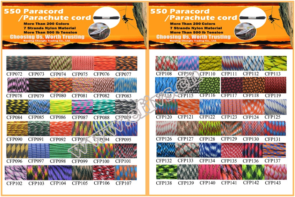 Military Outdoor Camping Survival Paracord Nylon Rope Cord Meshy Hammock For Hiking Camping Outdoor Sports