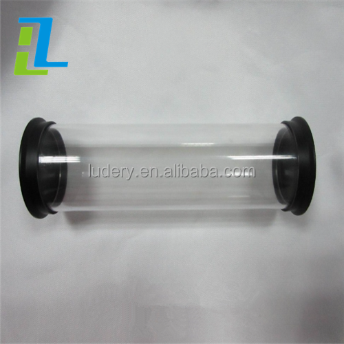 manufacture of high quanlity clear hard plastic tube acrylic tube for document and picture storage with a very low price