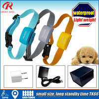 Geo-fence small waterproof dog collar gps tracking