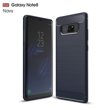 Brush Carbon Fiber Pattern TPU shock proof Mobile Phone Case Back Cover For Samsung Galaxy Note 8
