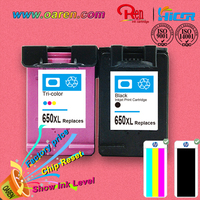 free samples high margin products chip reset to full level ink cartridge for hp 650
