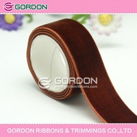 dye color Marsala velvet 15MM plain velvet ribbon