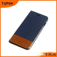 denim texture leather case for mobile phone cover stand flip wallet phone cases mobile phone protective covers