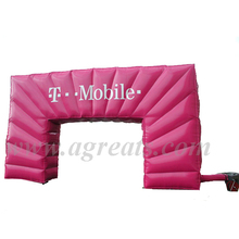 High quality PVC vinyl cheap inflatable christmas arch for sale S5009