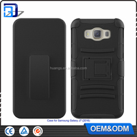 2016 New Outdoor Heavy Duty 3 in 1 Belt Clip Cell Phone Case For SamSung Galaxy J7 (2016) J710 PC Silicone Armor Kickstand Cover