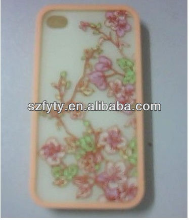 Cheap high quality protective case for iphone 4 with beautiful pattern