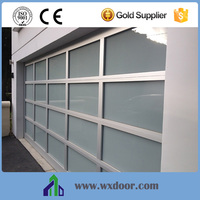 China Supplier Customed Size garage door with glass window