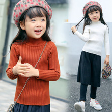 2018 kids sweaters girls Korean fashion knitted kids sweaters pullover for girl