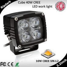 High power cube 12v LED work light 40w for Jeep, offroad, motocycle led driving light
