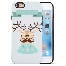 Christmas Promotions ! DIY 3D Sublimation TPU+PC Blank Phone Case for iPhone 7